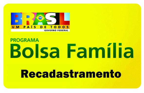 bolsa familia recadastramento Bolsa Família Recadastramento