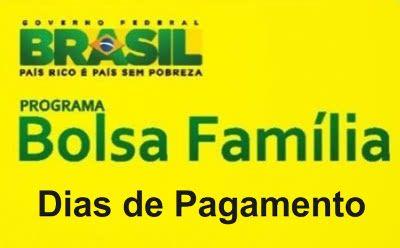 bolsa familia dias de pagamento Bolsa Família Dias de Pagamento